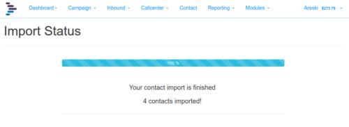 Import Contact Status